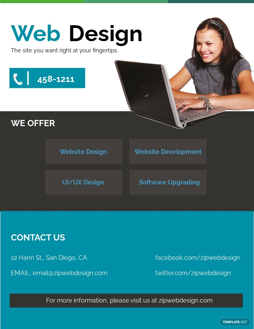 Website Design Flyer Template