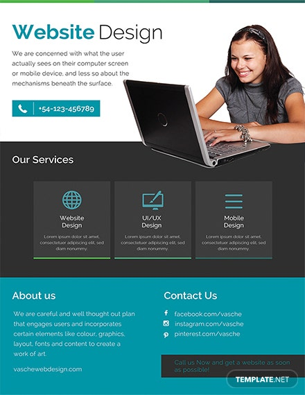 Free Website Design Flyer Template