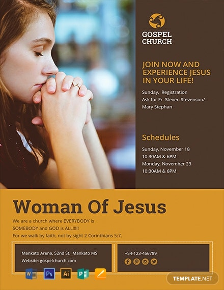 Free Woman of Jesus Flyer Template