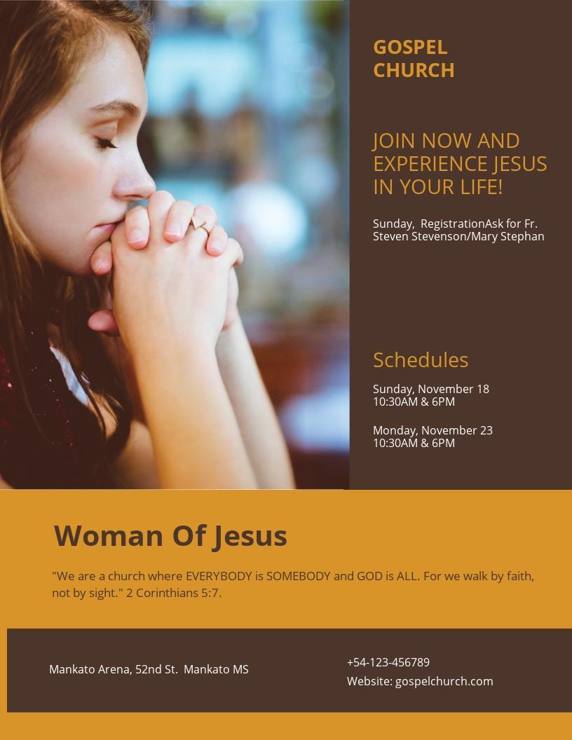 Woman of Jesus Flyer Template