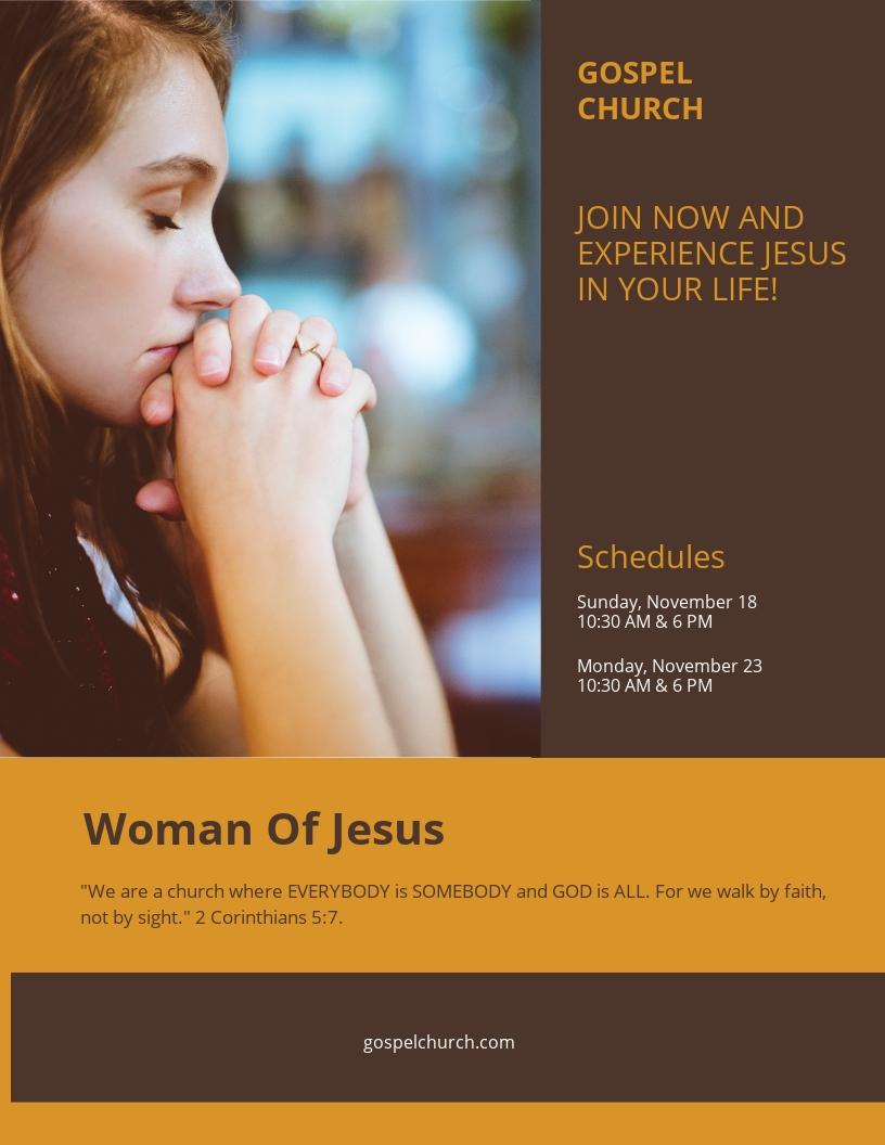 Woman of Jesus Flyer Template.jpe