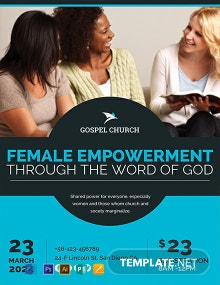 Free Women Church Flyer Template