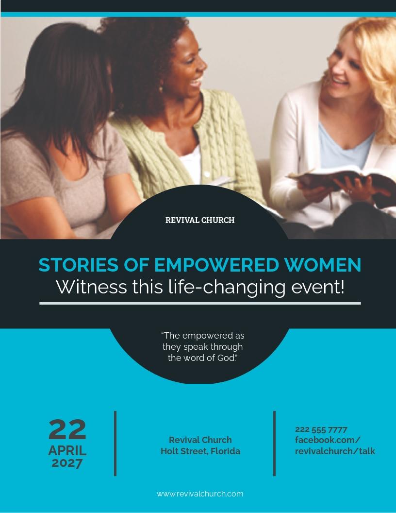 Free Women Church Flyer Template