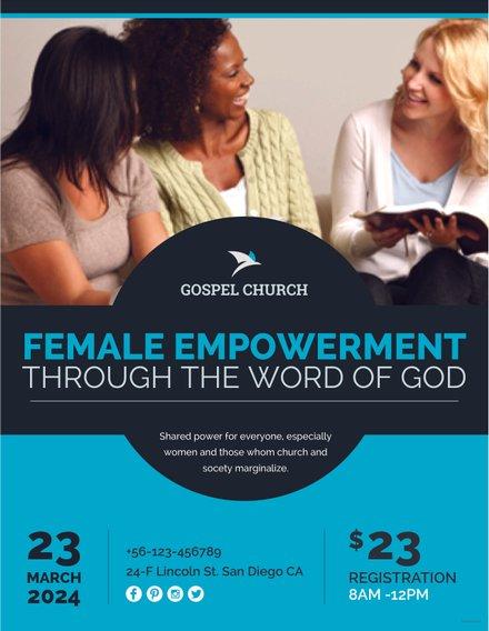 Free Women Church Flyer Template Free Templates