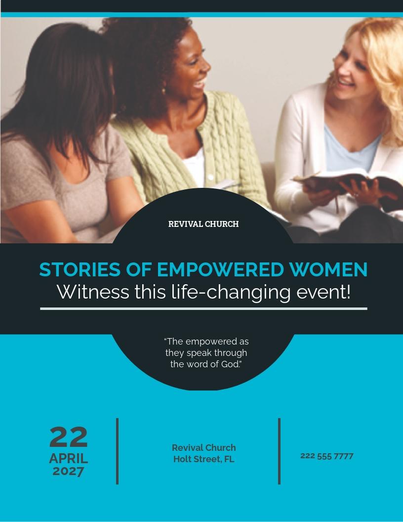 Women Church Flyer Template.jpe