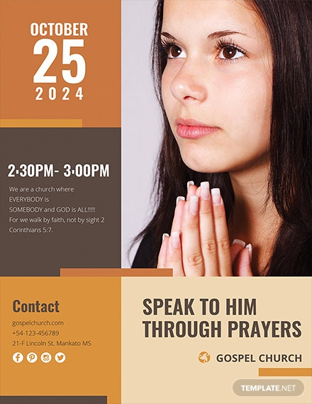 Free Women of Prayer Church Template
