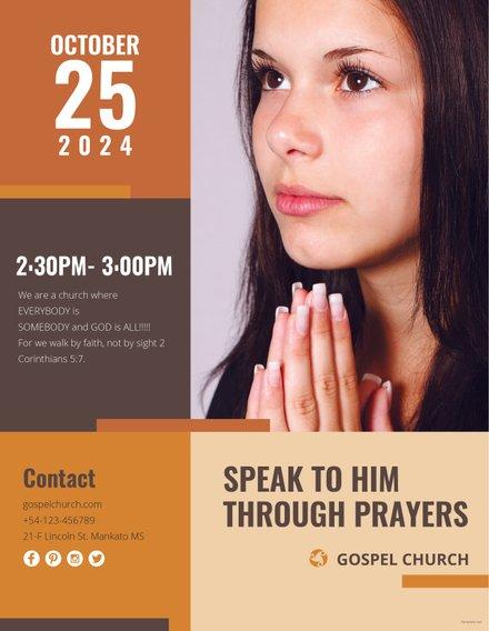 Women of Prayer Church Template