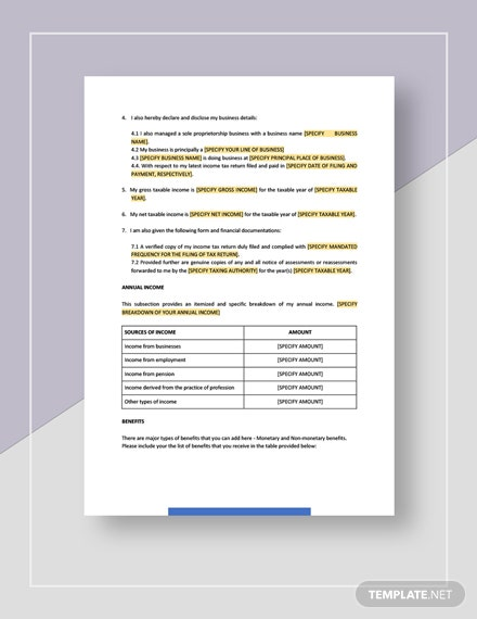 Legal Statement Template
