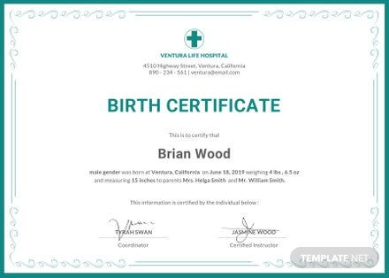 Free Pet Birth Certificate Template In Psd Ms Word Publisher