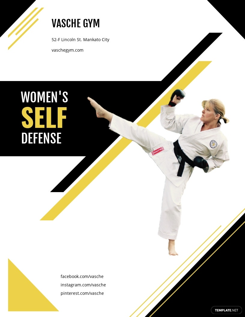 Women's Self Defense Flyer Template