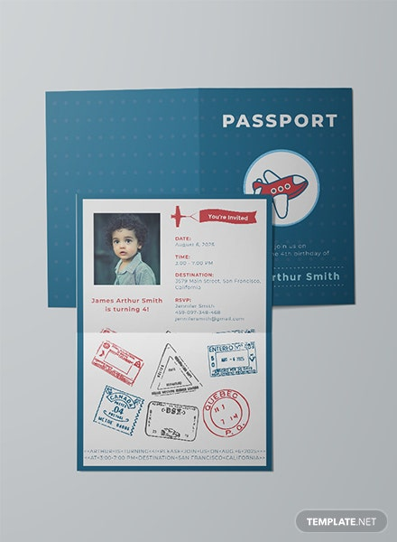 Free Passport Invitation Template