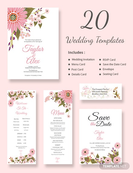 Free Floral Wedding Templates (Includes 20 Designs)
