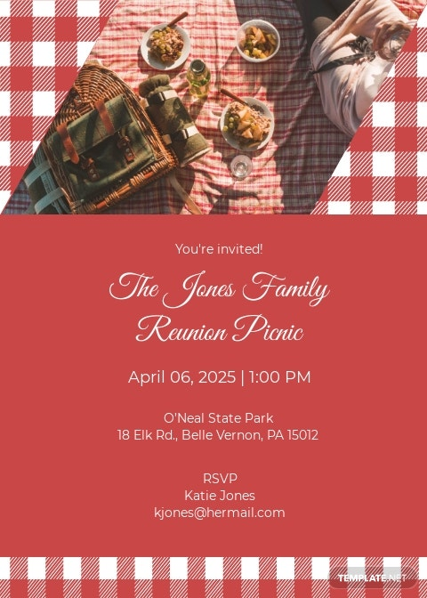 Picnic Party Invitation Template