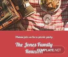 Free Picnic Party Invitation Template