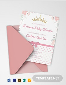 Free Princess Baby Shower Invitation Template