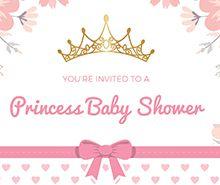 Free Princess Baby Shower Invitation Template