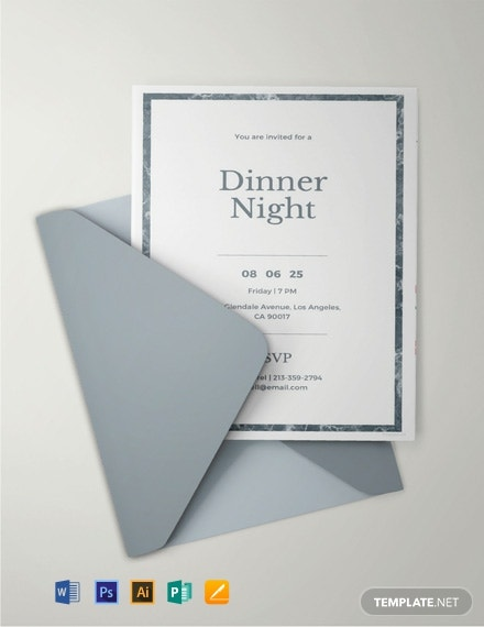 Free Sample Dinner Invitation Template