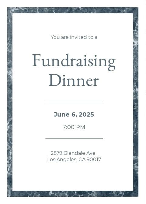 Sample Dinner Invitation Template