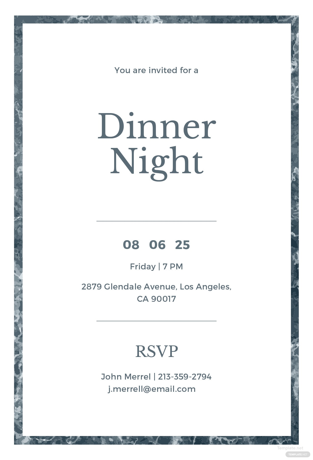 Free Sample Dinner Invitation Template in Adobe ...