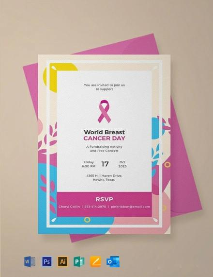 Free Sample Fundraising Invitation Template