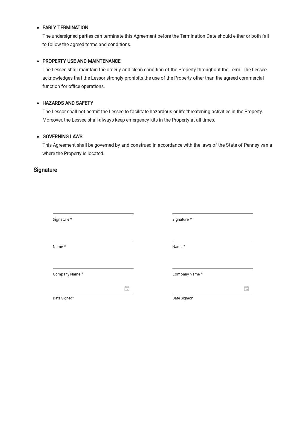 Sample Office Lease Agreement Template 2.jpe