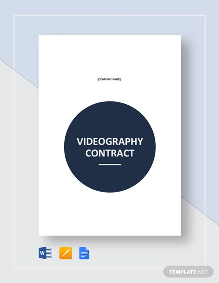 Simple Videography Contract Template