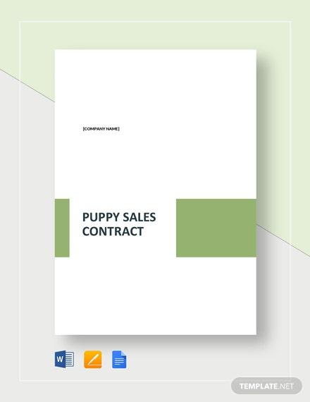 Puppy Sales Contract Template