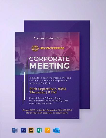 Free Sample Meeting Invitation Template