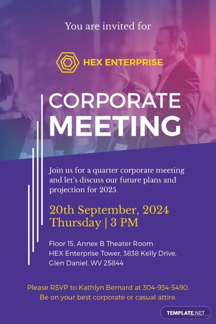 Free business meeting invitation template in psd ms word publisher free sample meeting invitation template cheaphphosting Choice Image