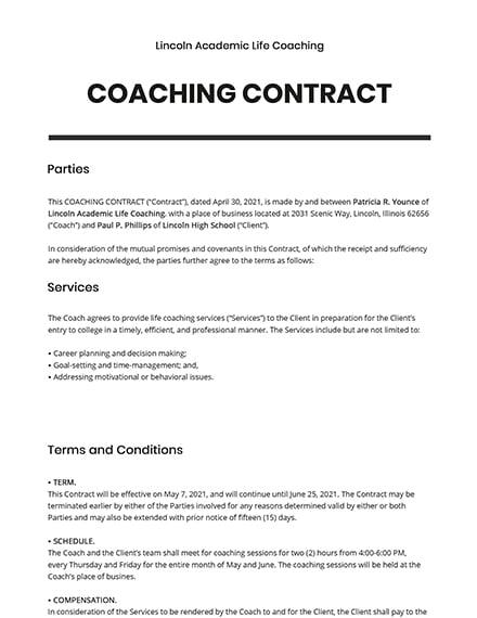 17+ FREE Coaching Templates - Word (DOC) | PSD | Google ...