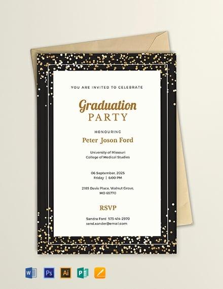 FREE Simple Graduation Invitation Template
