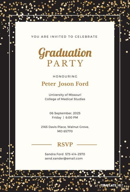 free simple graduation invitation template