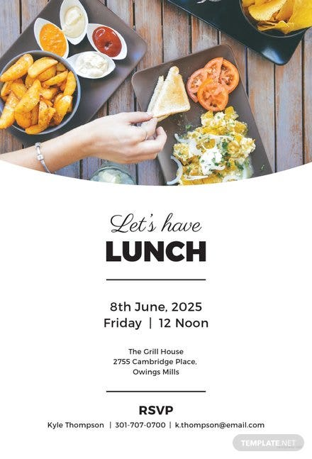 Free Simple Lunch Invitation Template | Free Templates
