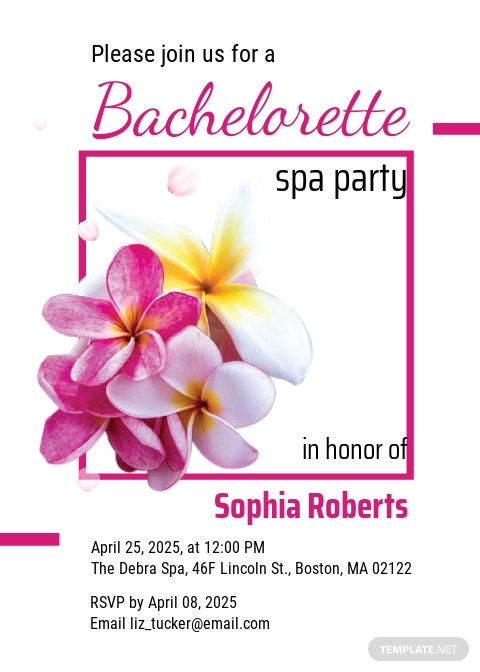 Free Bachelorette Spa Party Invitation Template.jpe