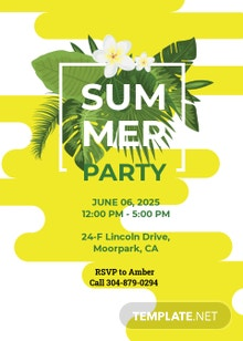 Free Summer Party Invitation Template