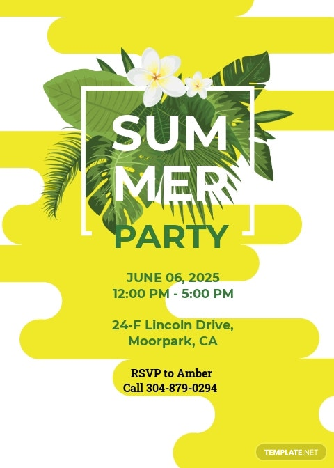 Free Summer Party Invitation Template.jpe