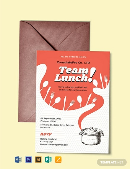 18 FREE Lunch Invitation Templates Download Ready Made