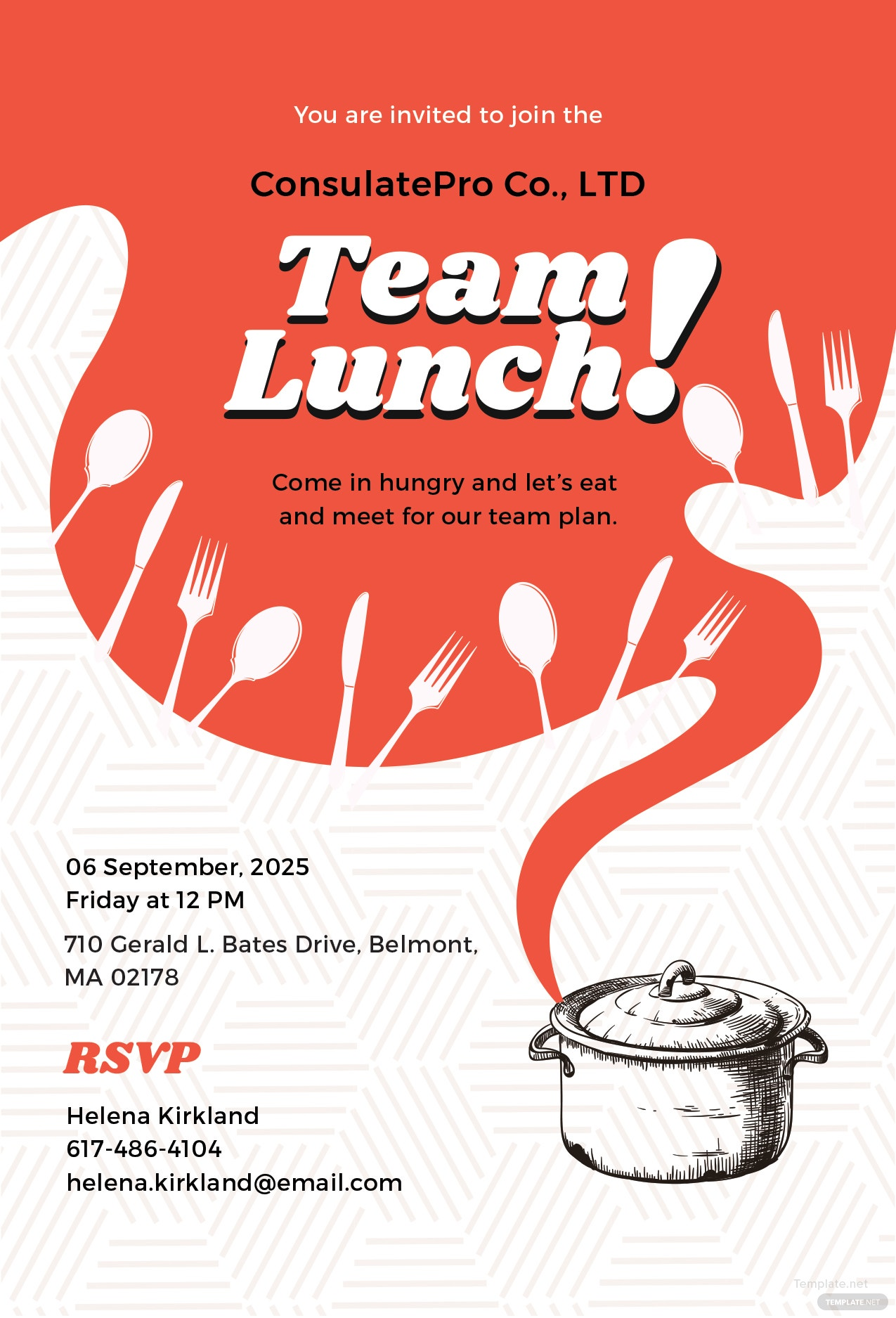 Team Lunch Invitation Message Masharibmdatamanagementco