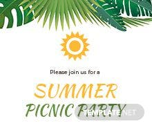 Free summer party invitation template in microsoft word microsoft free summer picnic party invitation template stopboris Images