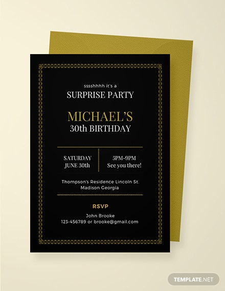 free surprise retirement party invitation template  download 508  invitations in psd  indesign