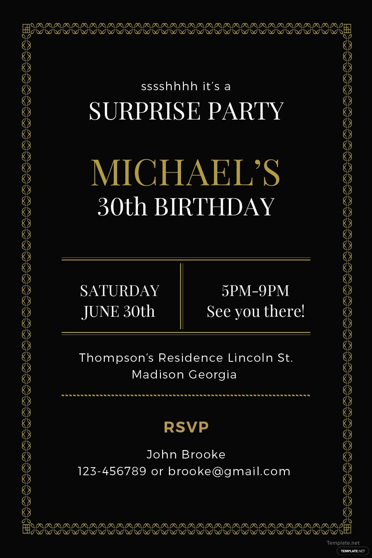 free surprise party invitation template in adobe illustrator