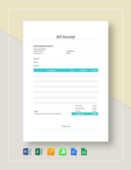 25 Free Rent Receipt Templates Pdf Word Excel