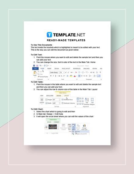 Sample Deposit Receipt Instructions