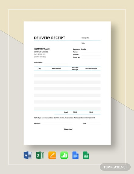 Delivery Receipt