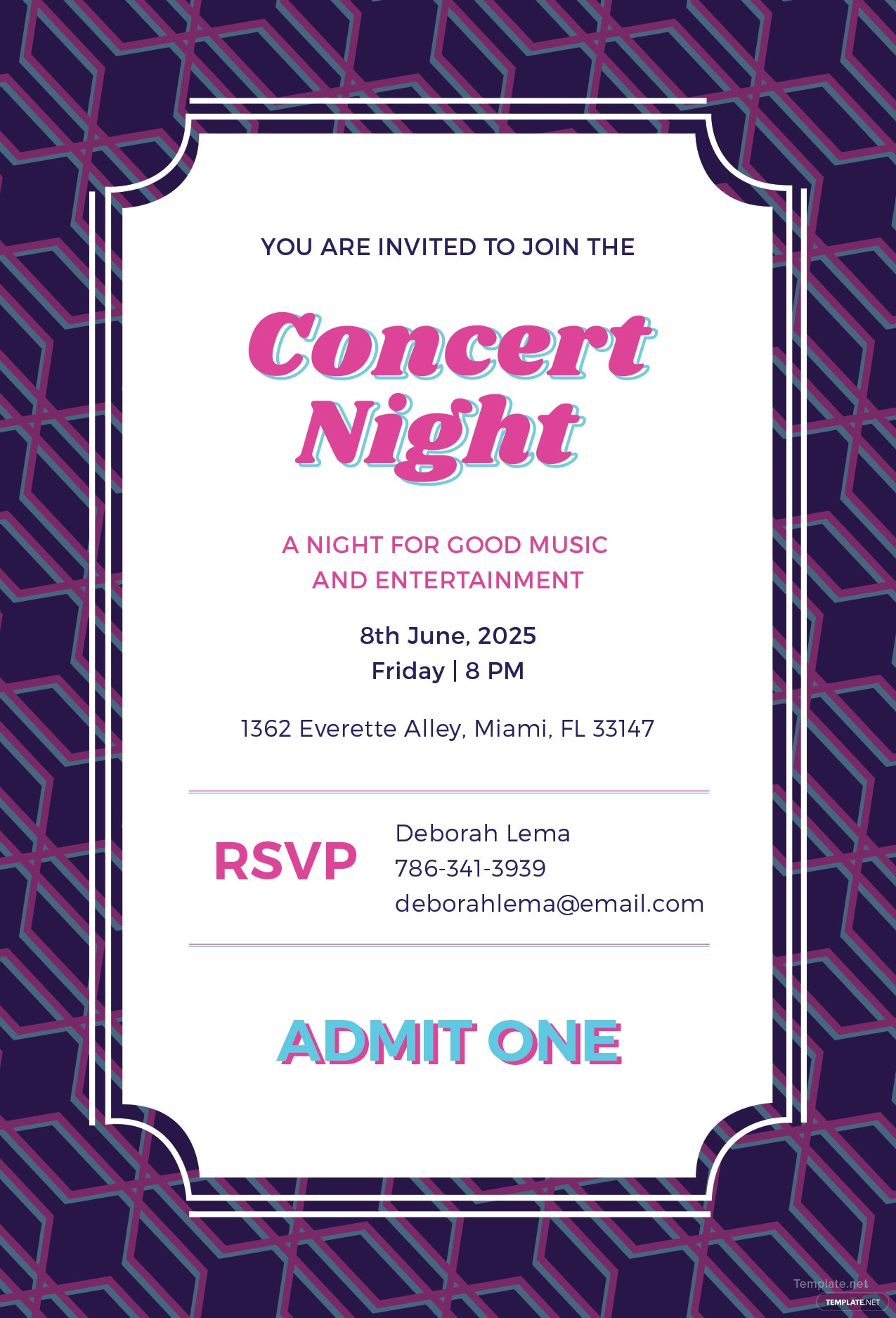 free concert ticket invitation template in adobe photoshop illustrator microsoft word. Black Bedroom Furniture Sets. Home Design Ideas