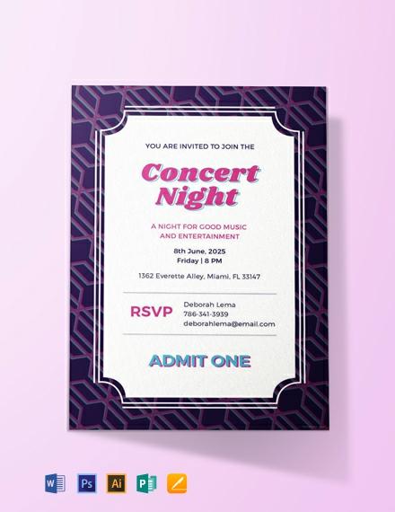 free concert ticket invitation template 440x570 1