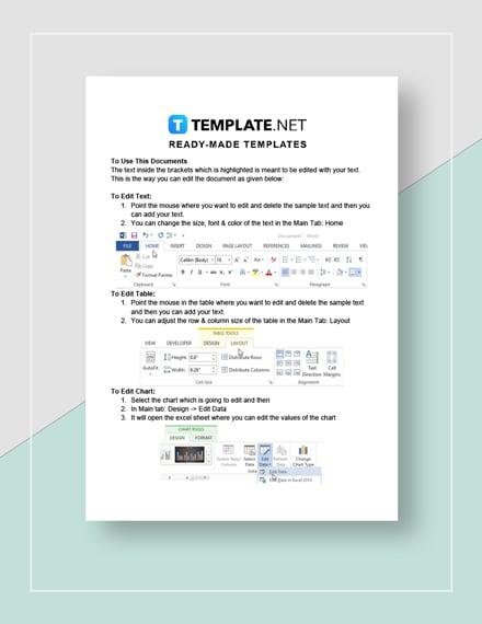 blank spreadsheet Instructions