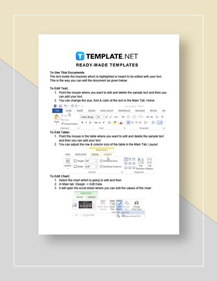 Job sheet Instructions