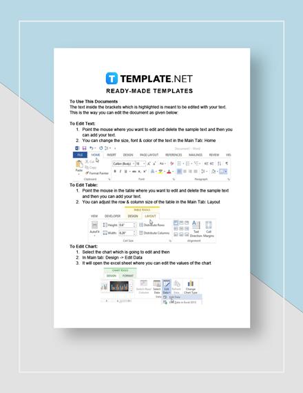 Medication sheet Instructions