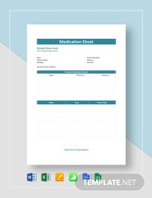 Medication Sheet Template